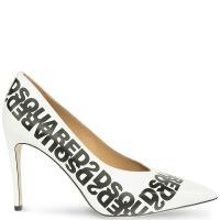 Туфли-лодочки DSQUARED2 белого цвета, фото