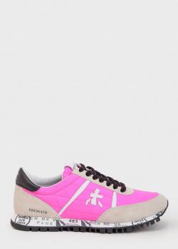 Яркие кроссовки Premiata с замшевыми вставками, фото
