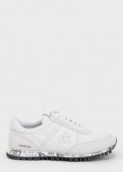 Кроссовки на шнуровке Premiata белого цвета, фото