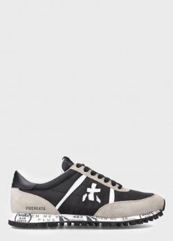 Кроссовки с логотипом Premiata с замшевыми вставками, фото