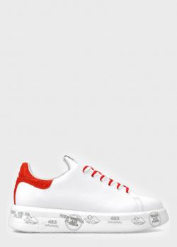Кроссовки Premiata Belle с красными вставками, фото