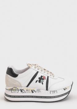 Белые кроссовки Premiata на платформе, фото