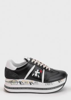 Кроссовки с логотипом Premiata из гладкой кожи, фото