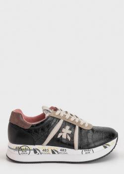 Кроссовки Premiata из кожи с тиснением кроко, фото