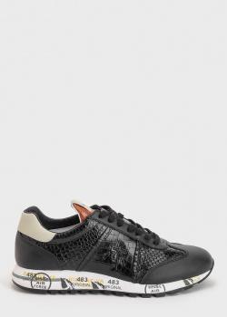 Черные кроссовки Premiata с тиснением под рептилию, фото