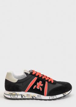 Черные кроссовки Premiata с контрастными вставками, фото