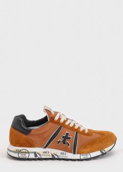 Кроссовки на шнуровке Premiata коричневого цвета, фото