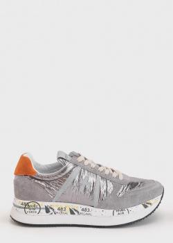 Серые кроссовки Premiata с контрастным задником, фото
