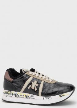 Кожаные кроссовки Premiata Conny с шерстью, фото