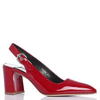 Лаковые туфли-слингбеки Premiata красного цвета, фото