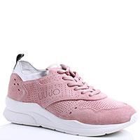 Розовые кроссовки Liu Jo с перфорацией, фото
