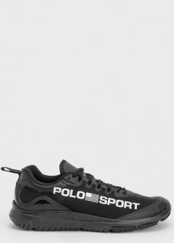 Черные женские кроссовки Polo Ralph Lauren со сменными шнурками, фото