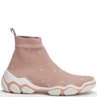 Текстильные кроссовки Red Valentino в нежно-розовом цвете, фото