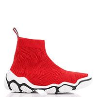 Кроссовки Red Valentino из текстиля красного цвета, фото