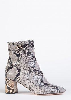 Ботинки Rochas с принтом под рептилию, фото
