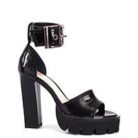 Черные босоножки Nando Muzi на высоком каблуке, фото