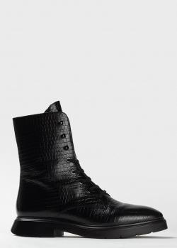 Ботинки из кожи Stuart Weitzman с тиснением под рептилию, фото