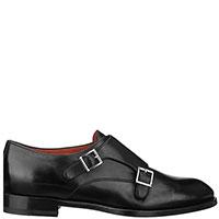 Туфли-монки Santoni черного цвета, фото