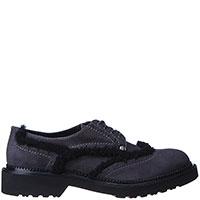 Туфли-броги Cesare Paciotti из замши темно-серого цвета, фото