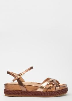 Бронзовые сандалии Liu Jo Patty на платформе, фото
