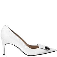 Белые туфли Sergio Rossi на шпильке, фото