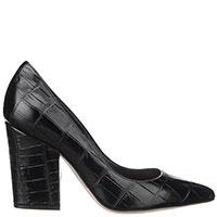 Черные туфли Sergio Rossi из фактурной кожи, фото