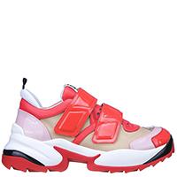 Красные кроссовки Sergio Rossi на липучке, фото