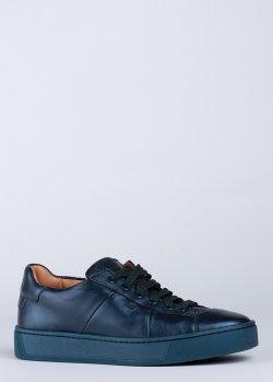Кеды Santoni синего цвета, фото