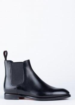 Ботинки Santoni черного цвета, фото