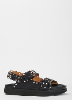 Замшевые сандалии Isabel Marant с декором-заклепками, фото