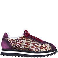 Замшевые кроссовки Doucal's с вышитым принтом, фото