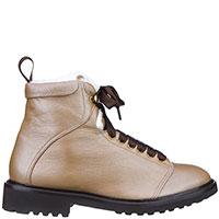 Золотистые ботинки Doucal's на меху, фото