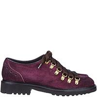 Туфли на шнуровке Doucal's из замши фиолетового цвета, фото