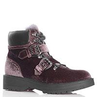 Коричневые ботинки Tosca Blu с декором-заклепками, фото