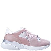 Розовые кроссовки Hogan с прозрачной вставкой, фото