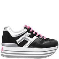 Черные кроссовки Hogan на толстой подошве, фото