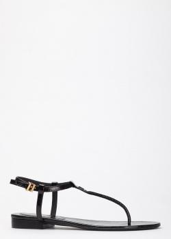 Сандалии из кожи Zadig & Voltaire черного цвета, фото