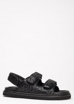 Стеганые сандалии Zadig & Voltaire из кожи черного цвета, фото