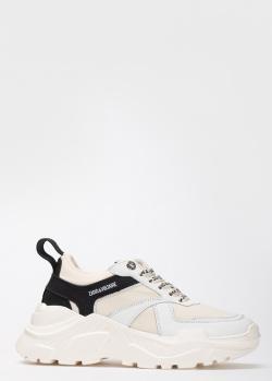 Белые кроссовки Zadig & Voltaire на толстой подошве, фото