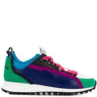 Цветные кроссовки Dsquared2 с закругленным носком, фото