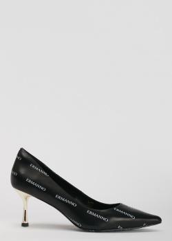 Туфли-лодочки Ermanno Ermanno Scervino с золотистым каблуком, фото