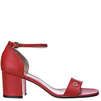 Красные босоножки Pollini с закрытой пяткой, фото