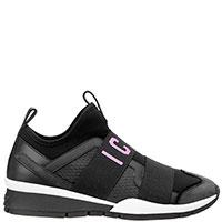Черные кроссовки Dsquared2 без шнуровки, фото