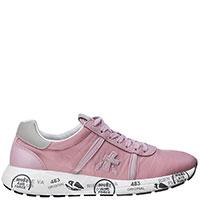 Текстильные кроссовки Premiata розового цвета, фото