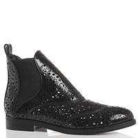 Перфорированные ботинки Azzedine Alaia черного цвета со вставками-резинками, фото