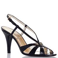 Черные босоножки Ines De La Fressange на высоком каблуке, фото