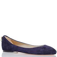 Замшевые балетки Ines De La Fressange синего цвета, фото
