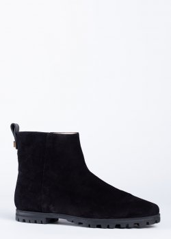 Ботинки Stuart Weitzman из черной замши, фото