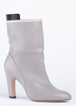 Ботинки Stuart Weitzman из кожи серого цвета, фото