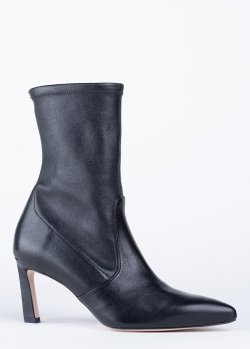 Черные ботинки Stuart Weitzman на среднем каблуке, фото